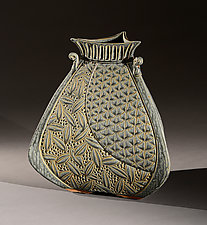 Hilo Three-Sided Vessel by Jim and Shirl Parmentier (Ceramic Vessel)