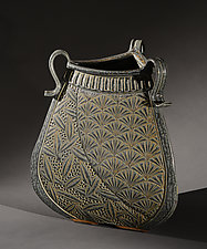Deco Three-Sided Vessel by Jim and Shirl Parmentier (Ceramic Vessel)