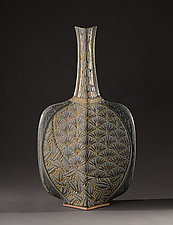 Deco Bottle by Jim and Shirl Parmentier (Ceramic Vase)