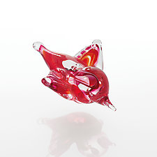 Little Red Bird by Christina Mayr and Jeff Ferrier (Art Glass Ornament)