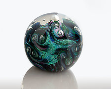 Dichroic Twist by The Glass Forge (Art Glass Paperweight)
