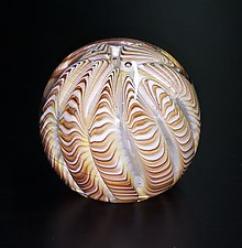 Earthtone Urchin by The Glass Forge (Art Glass Paperweight)
