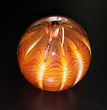 Glowing Urchin by The Glass Forge (Art Glass Paperweight)