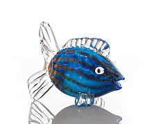 Blue Fish by The Glass Forge (Art Glass Sculpture)