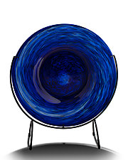 Cool Cobalt Blue Platter by The Glass Forge (Art Glass Platter)