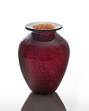Red Classic Vase by The Glass Forge (Art Glass Vase)