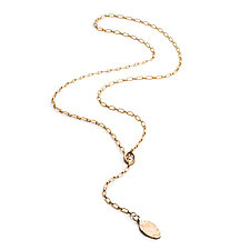 Single Charm Lariat by Natalie Frigo (Bronze Necklace)