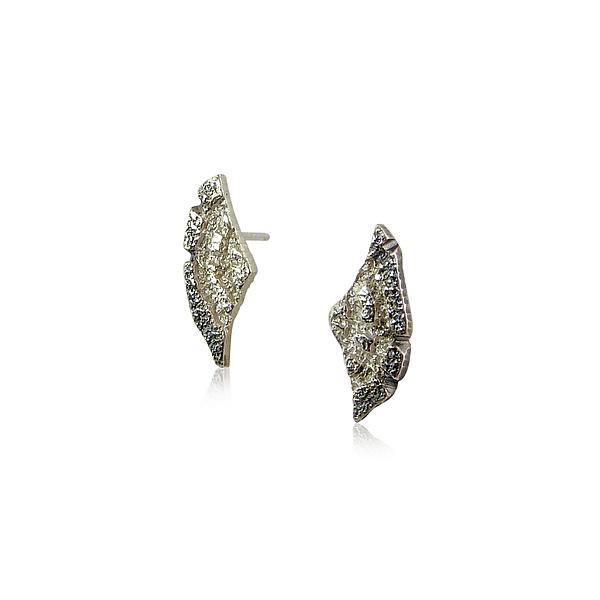 626afd565 Tiny Wing Stud Earrings by Jenny Reeves (Silver Earrings) | Artful Home