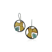 Terra Earrings by Jenny Reeves (Gold, Silver and Stone Earrings)