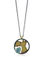 Aqua Terra Pendant by Jenny Reeves (Gold, Silver & Stone Necklace)
