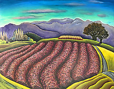 Blackberry Roller Coaster by Jane Aukshunas (Pastel Painting)
