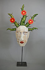 Thorn Flower Mask by Elizabeth Frank (Wood Sculpture)