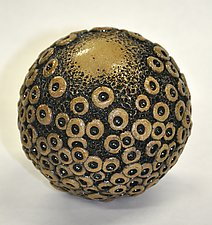 Ceramic Ball Rattle by Kelly Jean Ohl (Ceramic Sculpture)