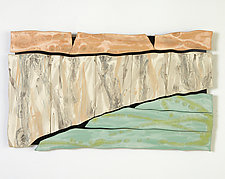 Canyon Deconstructed by Kristi Sloniger (Ceramic Wall Sculpture)