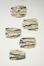 Stepping Stones II by Kristi Sloniger (Ceramic Wall Sculpture)