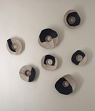 Life's Layers Wall Bowls I by Loren Yagoda (Ceramic Wall Sculpture)