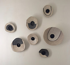 Life's Layers Wall Bowls IV by Loren Yagoda (Ceramic Wall Sculpture)