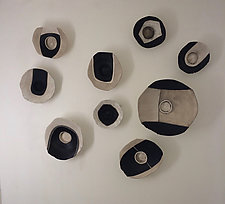 Lifes Layers Wall Bowls III by Loren Yagoda (Ceramic Wall Sculpture)