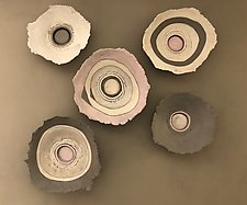 Life's Layers Pink by Loren Yagoda (Ceramic Wall Sculpture)
