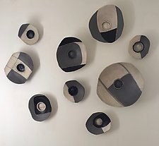 Lifes Layers Wall Bowls II by Loren Yagoda (Ceramic Wall Sculpture)