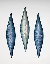 Blue Water by Liza  Halvorsen (Ceramic Wall Sculpture)