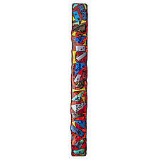 Firecracker Swizzlestick by Helen Rudy (Art Glass Wall Sculpture)