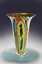 Trumpet Vase by Helen Rudy  (Art Glass Vase)