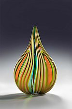 Teardrop 1—PatternScape by Helen Rudy (Art Glass Sculpture)