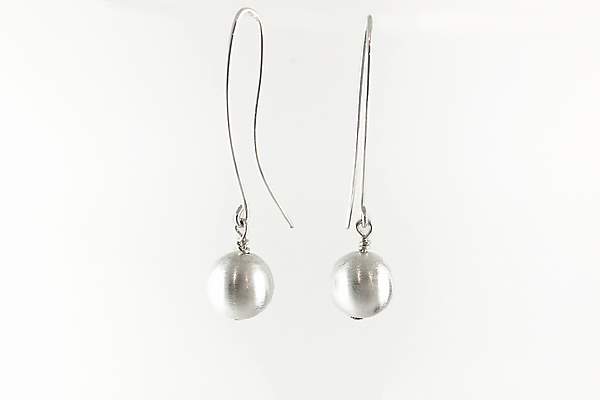 e3bb33eb390414 Silver Sphere on Wire Earrings by Claudia Endler (Silver Earrings) | Artful  Home
