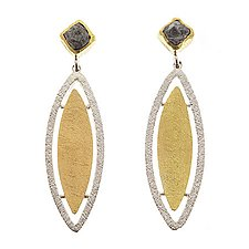 Primavera Earrings by Davide Bigazzi (Gold, Silver & Stone Earrings)