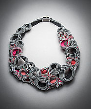 Bubbles XXIV Zipper Necklace by Kate Cusack (Zipper Necklace)