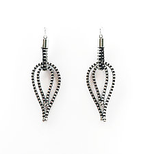 Feather Zipper Earrings by Kate Cusack (Jewelry Earrings)