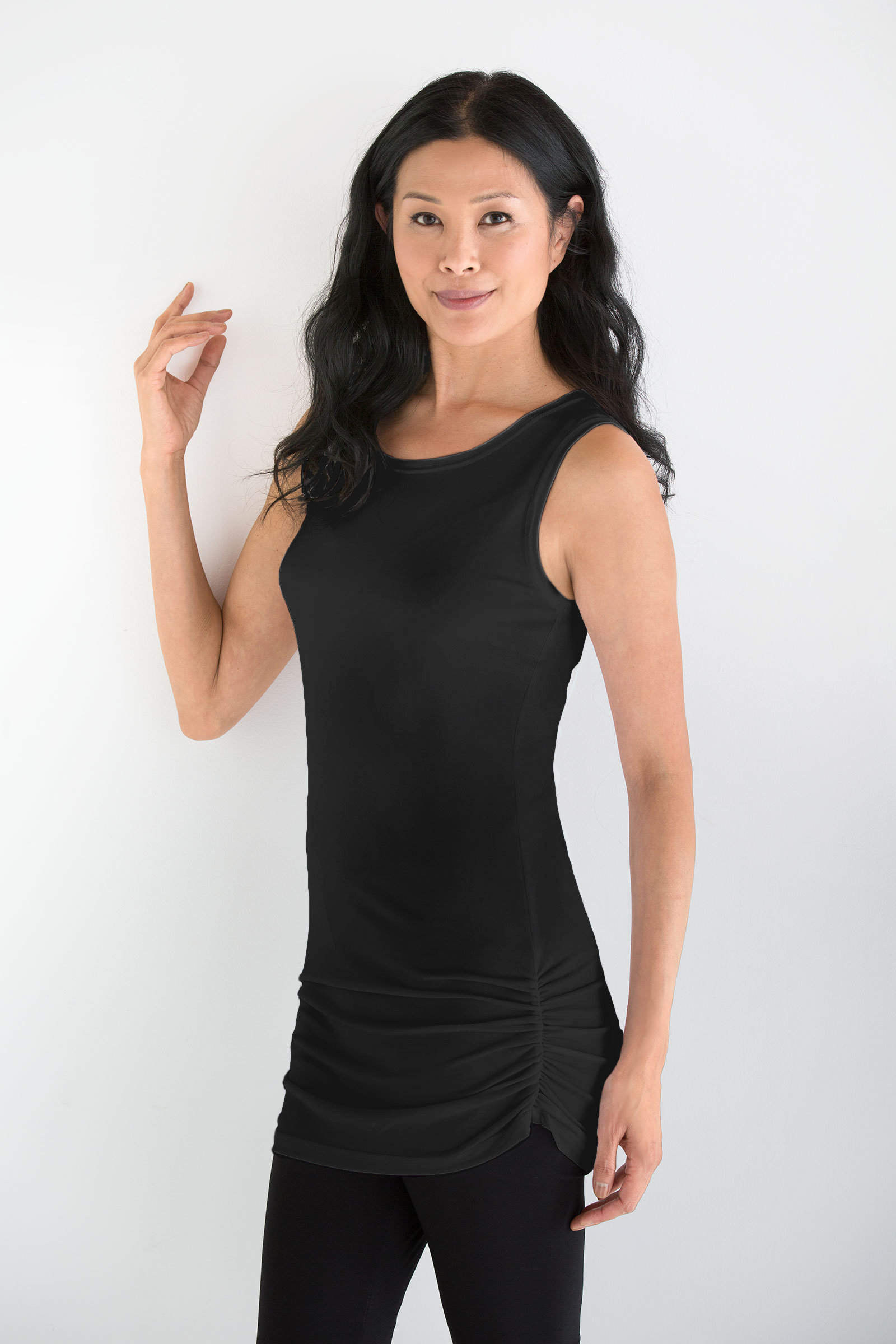 e95793ae65988 Matte Jersey Ruched Tank by Planet (Knit Top)