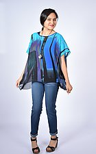 City Twilight Sheer Small Square by Carol Turner  (Woven Top)