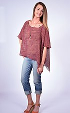 Berry Melange Mesh Mid-Size Square by Carol Turner  (Linen Top)