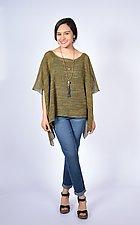 Olive Melange Mesh Mid-Size Sqaure by Carol Turner  (Linen Top)
