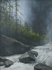 Yosemite Creek by Mary Jo Van Dell (Oil Painting)