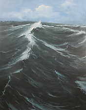 The Wave by Mary Jo Van Dell (Oil Painting)