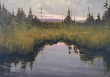 Northern Bog by Mary Jo Van Dell (Paintings & Drawings Oil Paintings)