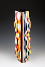 Striped Vase by Lin Xu (Ceramic Vase)