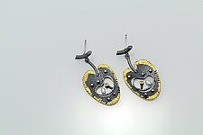 Inner Beauty Earrings by Sooyoung Kim (Gold, Silver & Stone Earrings)