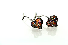 Heart Fruit Earrings by Sooyoung Kim (Silver Earrings)