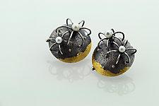 Desert Sky Earrings by Sooyoung Kim (Gold, Silver & Pearl Earrings)