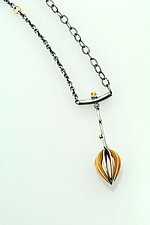 Flower Bud Necklace by Sooyoung Kim (Gold, Silver & Stone Necklace)