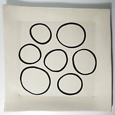 Square Platter 3 by Lori Katz (Ceramic Platter)