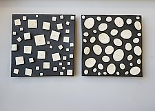 Pair with Disks and Squares by Lori Katz (Ceramic Wall Sculpture)