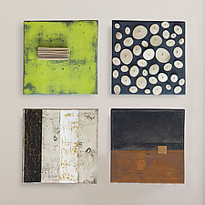 Four Square by Lori Katz (Ceramic Wall Sculpture)