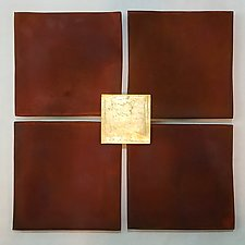 Four Rust by Lori Katz (Ceramic Wall Sculpture)
