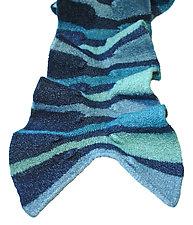 Royal Striped Scarf by Kristin Gereau  (Silk & Wool Scarf)