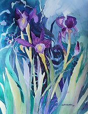 Spring Garden 5 by Sandra Humphries (Watercolor Painting)